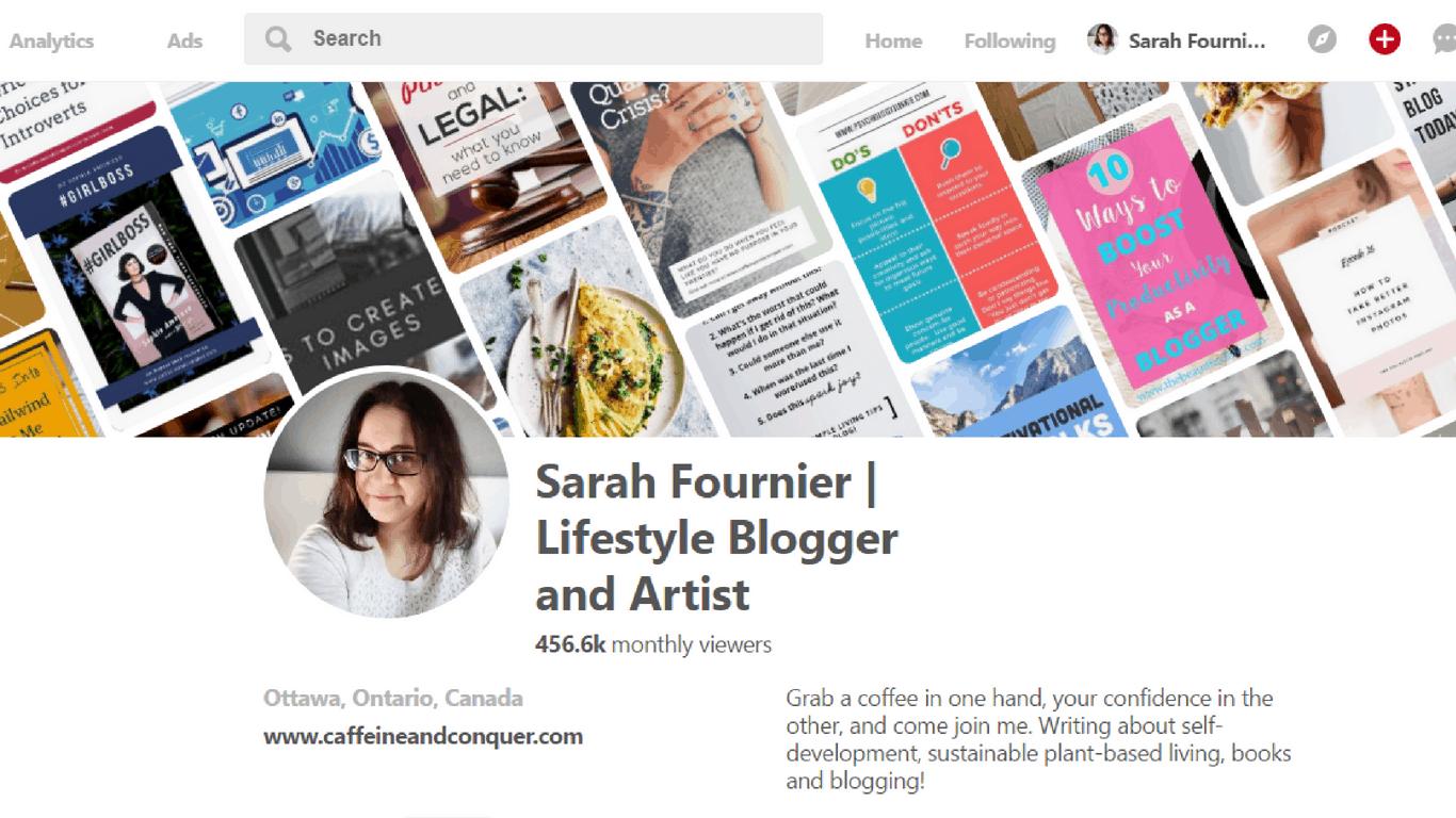 Pinterest profile, name, description, Pinterest viewers