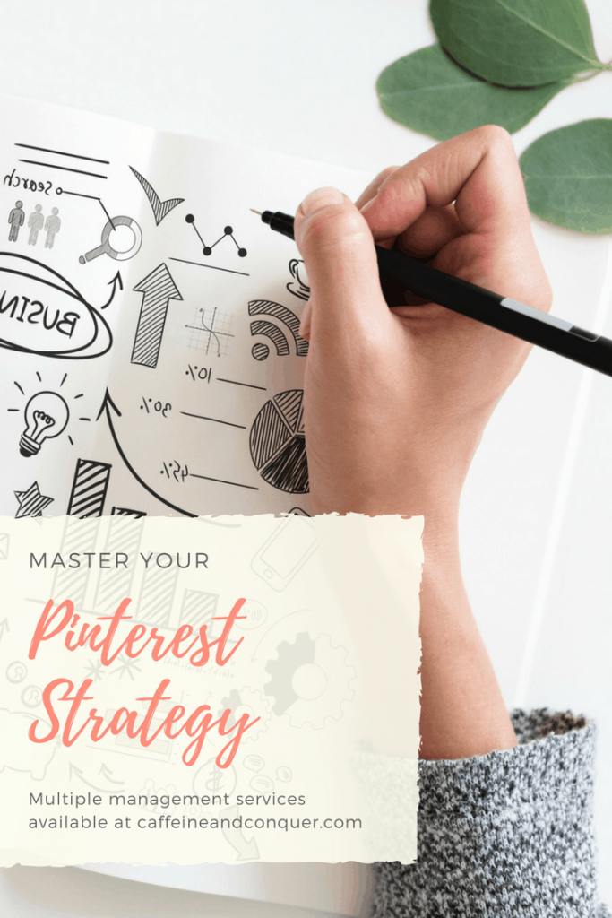 Leave the work to someone else, hire a Pinterest Manager. New Pinterest Services now at Caffeine and Conquer. Click through to learn more or pin for later. #pinterest #strategy #tailwind #pintererestmanagement