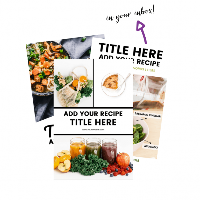 Screenshot of Pinterest pin templates for food bloggers
