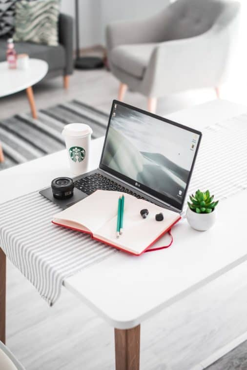 Laptop with Starbucks